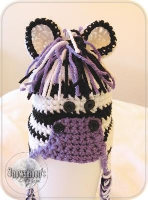 Crochet ZEBRA Hat - Newborn