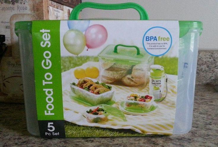 BPA FREE 5-Piece Set LOCK n & LOCK Food To Go Storage Container Camping #LockLock #BPAFree #SaveTheEnvironment