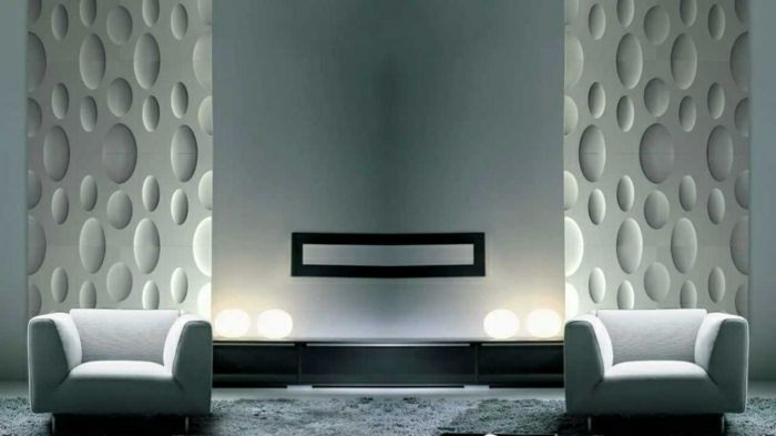 Moderne Wandpaneele 80 Fotos Zum Erstaunen Archzine Net Wandtafel Design Strukturierte Wande