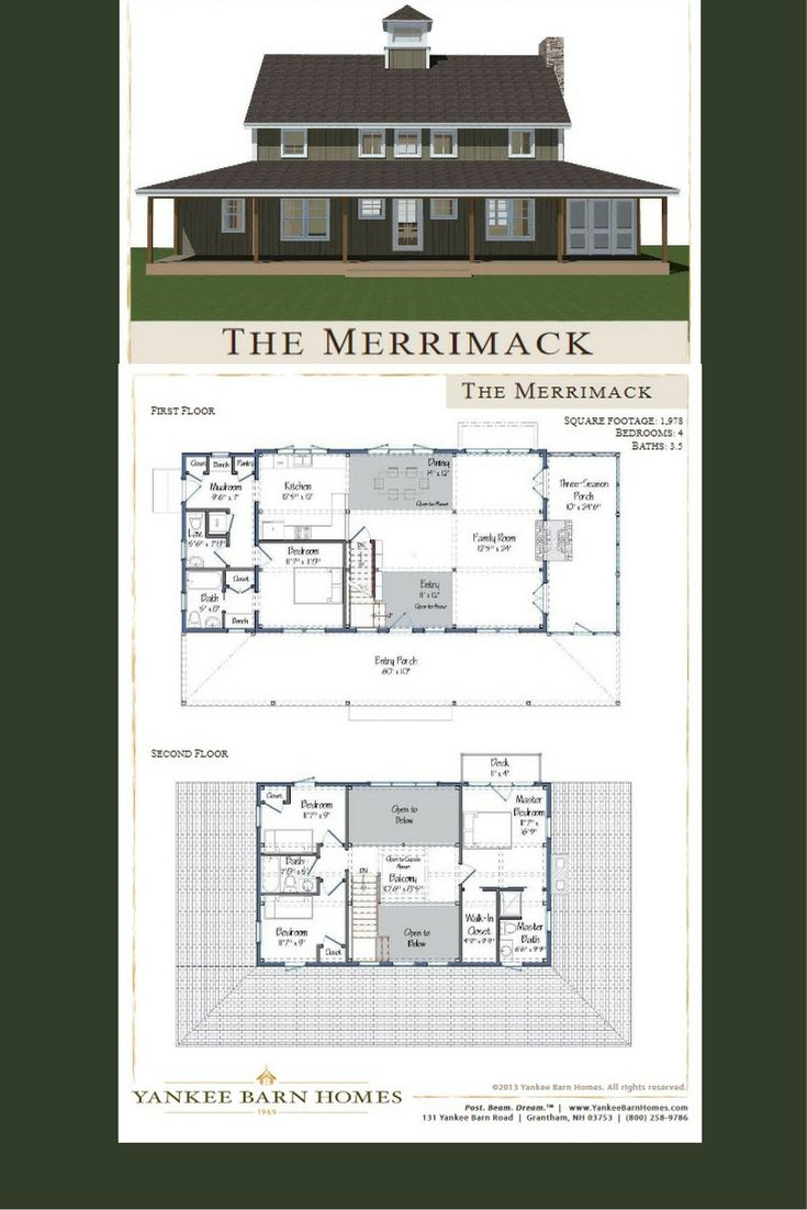 52 best images about barn home floor plans on pinterest for 4 bedroom barn house plans