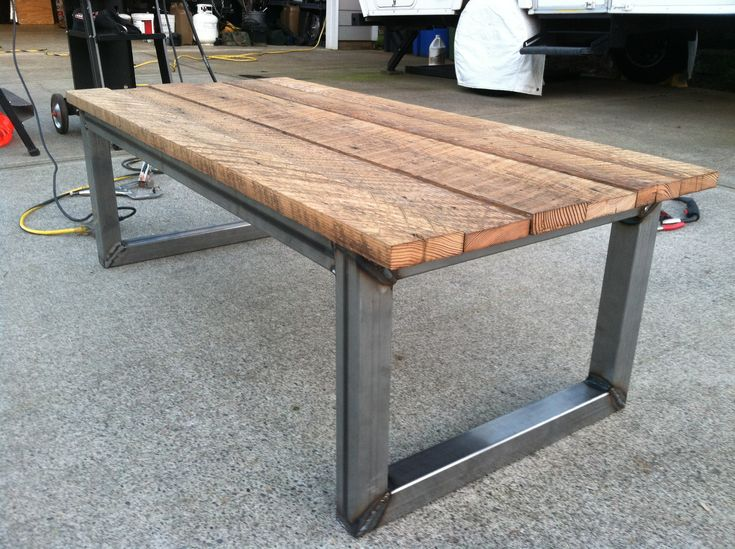 041e46a48a4e0242379e20c2946d2e32  welding ideas welding projects Unique Coffee Table Diy Pallet Wood Dining Table With Steel Legs  Pallets