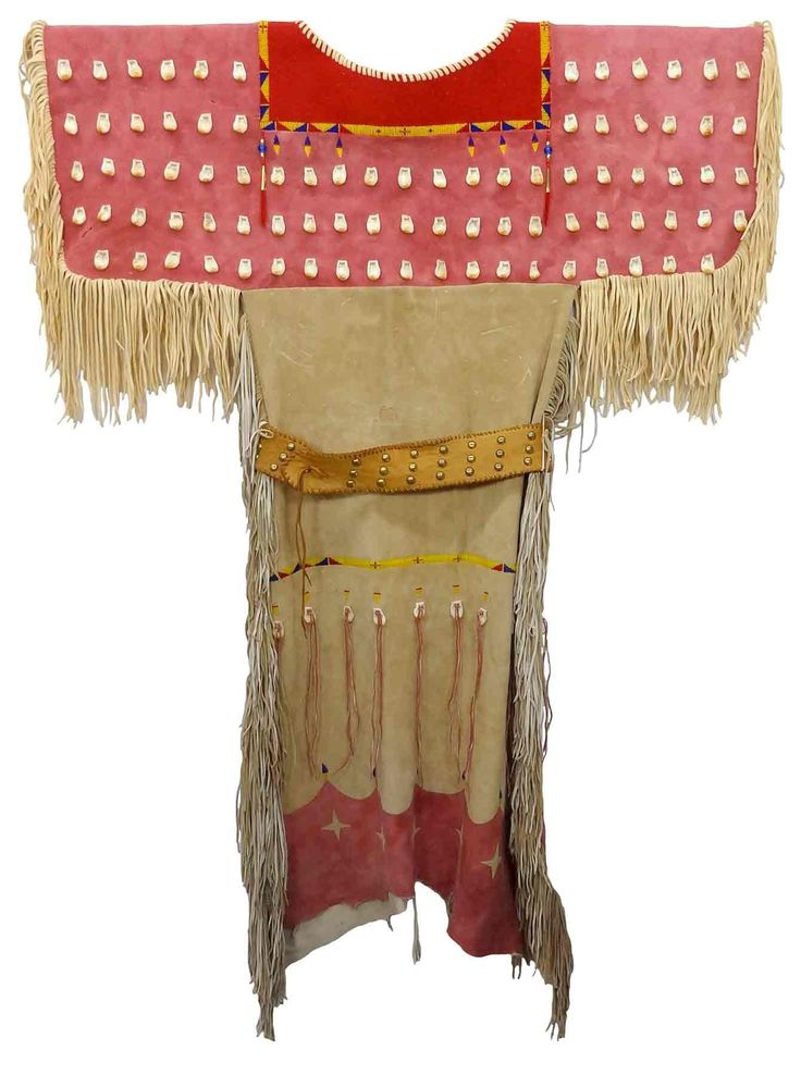 Native American Indian Beadwork Dress w. Imitation Elk Teeth $2,799