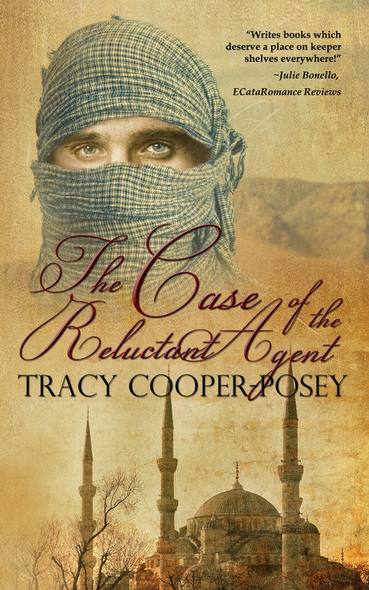 The Case of the Reluctant Agent.  Sherlock Holmes romantic suspense.  Second edition cover http://tracycooperposey.com/books/the-case-of-the-reluctant-agent/