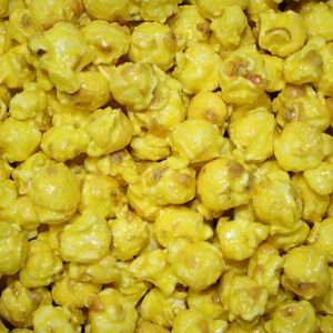 Our freshly popped gourmet pina colada flavored Popcorn is candy coated. This deep yellow popcorn is great for a mix of team or corporate colors and wedding buffets for your upcoming events! Delicious