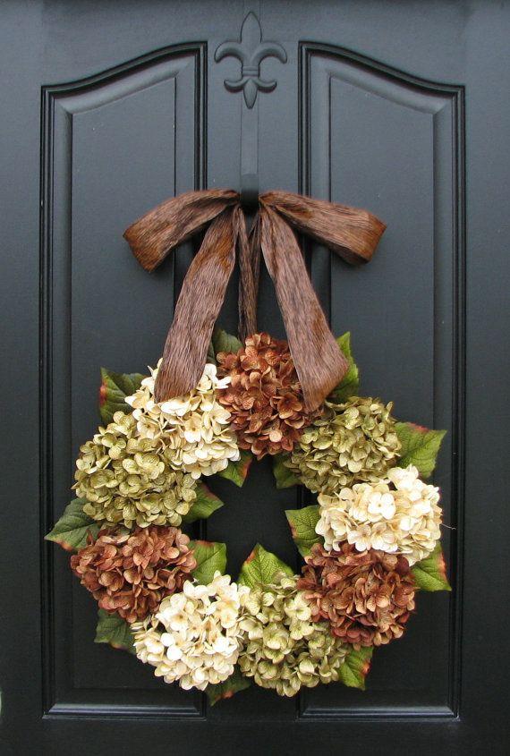 Hydrangea Wreath, Summer Wreaths, Online Wreath, Etsy Wreaths, Summer Hydrangeas, Summer Home Decor on Etsy, $85.00