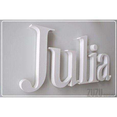 Julia, literki Elegance białe