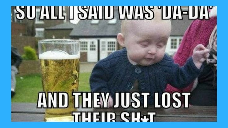 http://theawesomedaily.com/21-drunk-baby-meme-pictures/ #memes #fun #funny  Getting the right image for great memes is all about timing. Most of the time it's just a bad photo. In the case of the Drunk Baby meme, the timing was perf