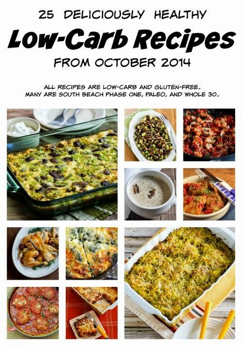 25 Deliciously Healthy Low-Carb Recipes from October 2014 (Gluten-Free, SBD, Paleo, Whole 30) [from KalynsKitchen.com]