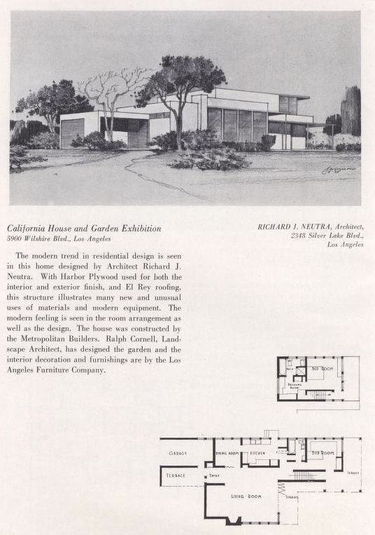 very cool California Homes & Gardens, 1936.  Margaret Atchley.  This catalogs featuress designs by California architects including Richard Neutra and Paul Williams. From the Association for Preservation Technology (APT) - Building Technology Heritage Library, an online archive of period architectural trade catalogs. Select an era or material era and become an architectural time traveler.