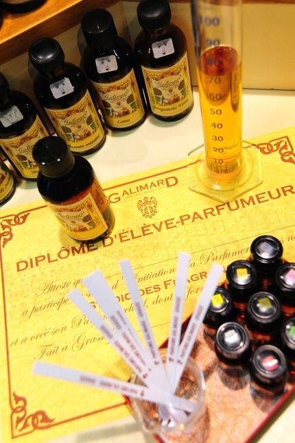 "Make your own perfume at ""Le Studio des Fregrances"" at the Galimard Parfumeur in Grasse, France (near Nice and Cannes)"