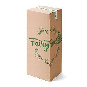 FAIRYTREES Arbre de Noël artificiel PIN, neige d'un blanc naturel, matériau PVC, véritables pommes de pin, avec pied en métal, 220cm,…