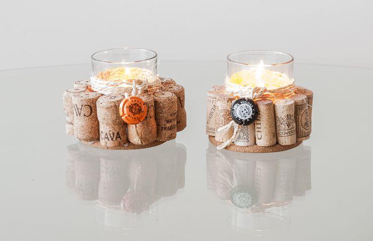 Candle Holder of Corks