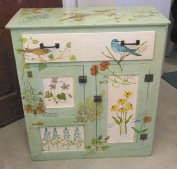 Hand Painted Antique Pine Wash Stand by Petaloudes1 on Etsy