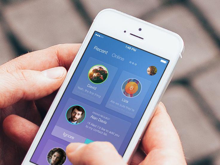 Messenger app - #ux #ui #mobile #iphone #design #interface