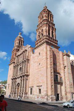 Catedral de Nuestra Señora de la Asunción de Zacatecas. En Zacatecas México.