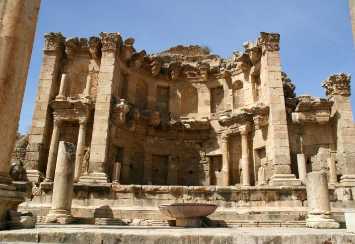 Jerash, Jordan-- been there, done that, sat in that fountain while eavesdropping on a Spanish-language tour. :)