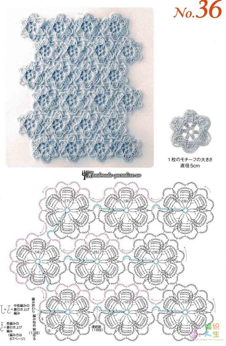 Вязание крючком без отрыва нити. Японский журнал со схемами
