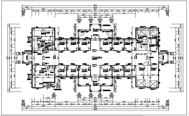Commercial Building Plan View Layout Details Houses