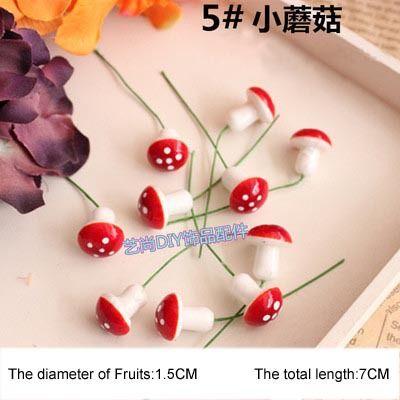 120PCS High Quality artificial floral foam mini mushroom,grass for gardens,garden fence decor,DIY Hair garland accessories,(China (Mainland))