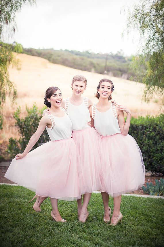 tulle skirts for the Bridesmaids found on Etsy