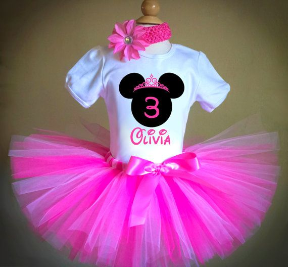 Minnie Mouse Tutu Outfit, Birthday Minnie Outfit, Minnie