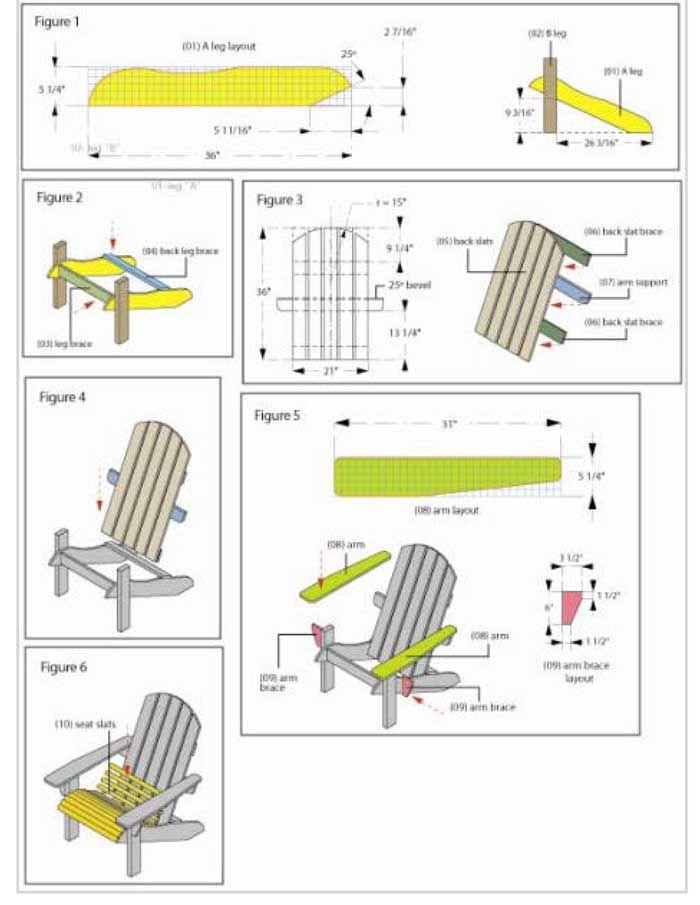Free DIY Adirondack Chair Plans |Build Adirondak Chair Plans