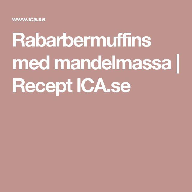 Rabarbermuffins med mandelmassa   Recept ICA.se
