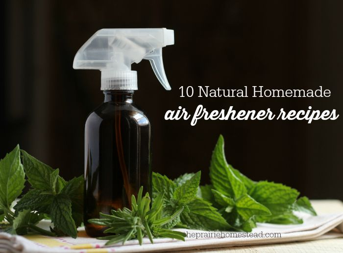 IDEAS: homemade air freshener recipes - ESSENTIAL OIL COMBINATIONS to try (Love the idea of using vanilla extract as the alcohol in room freshener sprays, too!)