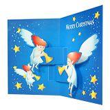 クリスマス天使の夜 無料素材 ダウンロード | ペーパーミュージアム