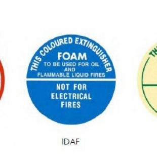 IDAF | ID Sign Air Foam Extinguisher | Fire Signs and Adhesive Labels | Southside Fire & Safety