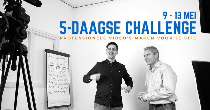 Doe mee met de 5-daagse Videomarketing Challenge en leer hoe je kosteloos professionele video's maakt onder begeleiding van Video Marketeer Freerk Lap en Parttime Businesscoach Hugo Bakker.