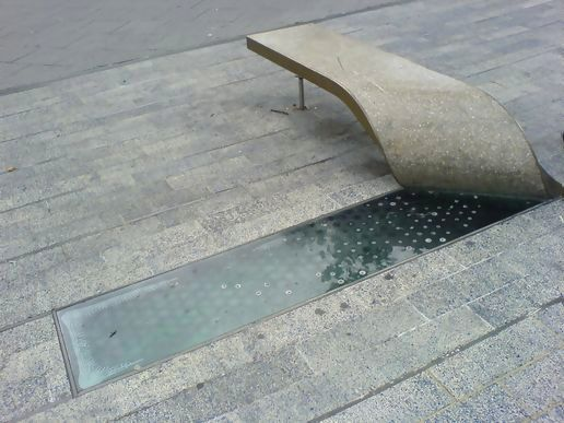 Peeled Concrete Bench — Designer / Artist Unknown