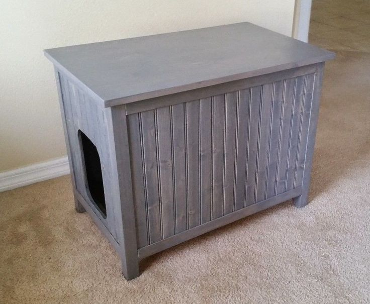 Medium Cat Furniture Litter Box Cover Odor Free Wood Chest Cabinet Usa