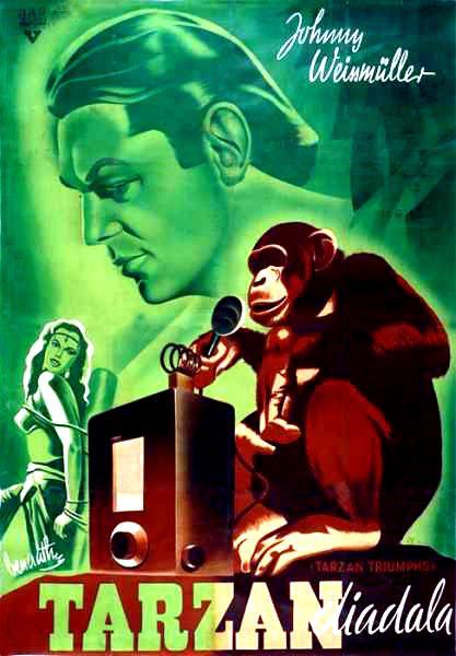 Johnny Weissmüller Tarzan diadala moziplakát