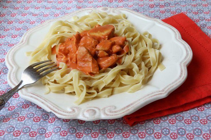 Émincés de poulet sauce tomate mascarpone (au Cookéo)