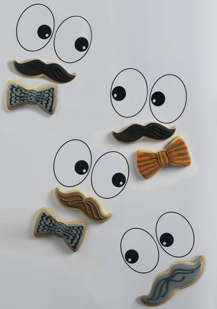 Icing koekjes snor en vlinderdas
