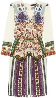 ShopStyle: Etro Printed crepe dress