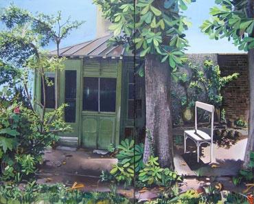 MATHIEU CHERKIT, Chercher, 2011, huile sur toile, 195 x 250 cm