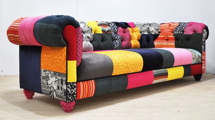 COLOR PATCH  chesterfield patchwork sofa от namedesignstudio, $3 850,00