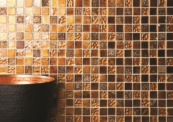 NEW: Desire mosaics in a warm copper shade add interest and look gorgeous when lit. From Original Style's Mosaics collection.
