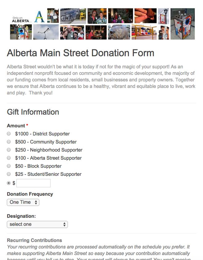 20 Best Online Donation Form Examples Images On Pinterest