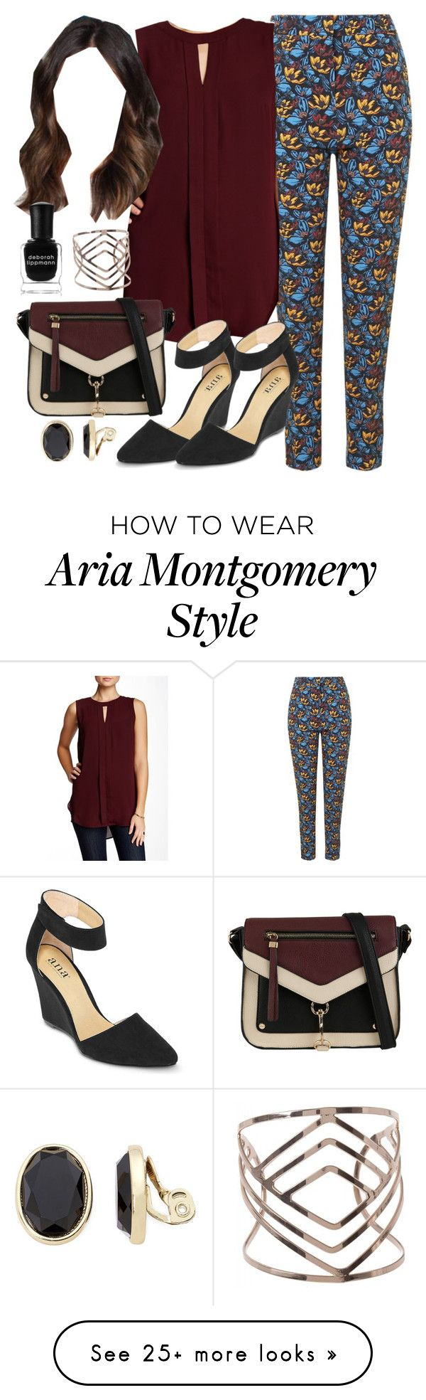 """Aria Montgomery inspired outfit"" by liarsstyle on Polyvore featuring Topshop, Vince Camuto, A.N.A, Call it SPRING, Liz Claiborne, Deborah Lippmann, Work and Semi"