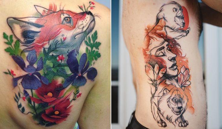Tatuagens que parecem ter saído de livros antigos de contos de fada