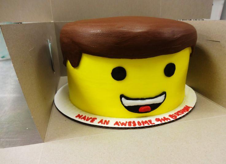 Lego Head Cake - Erin Miller Cakes - https://www.facebook.com/erinmillercakes