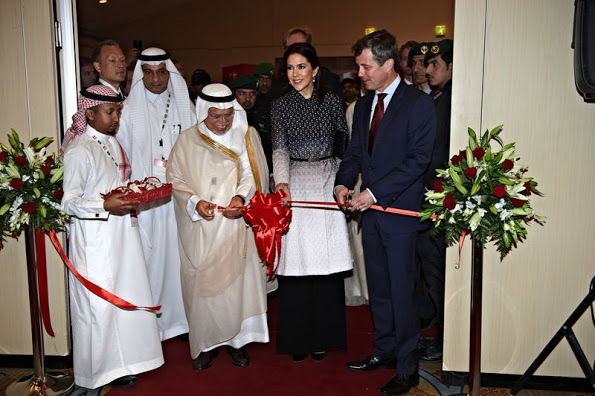 "On the 2nd day of their Saudi Arabia visit, Crown Princess Mary of Denmark and Crown Prince Frederik of Denmark attended the official opening of ""Denmark-Saudi Arabia Business Forum"" in the capital city of Saudi Arabia, Riyadh."