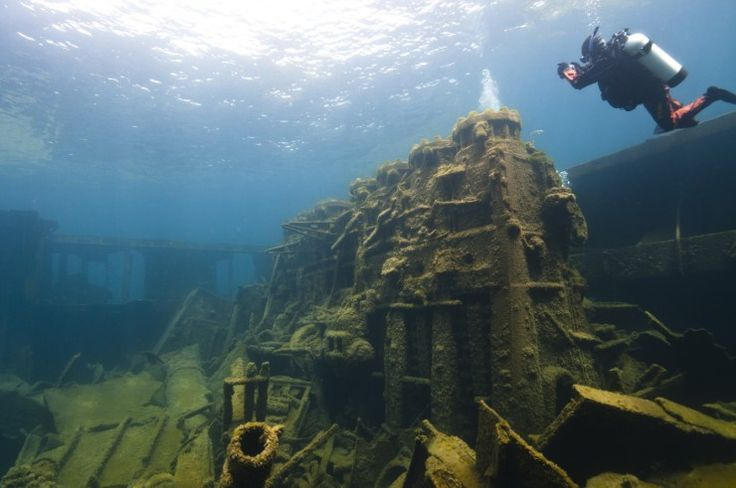 Discover the dozens of shipwrecks that lurk off shore in Michigan's beautiful Thunder Bay!   What's  your favorite maritime museum in Michigan?  #Alpena