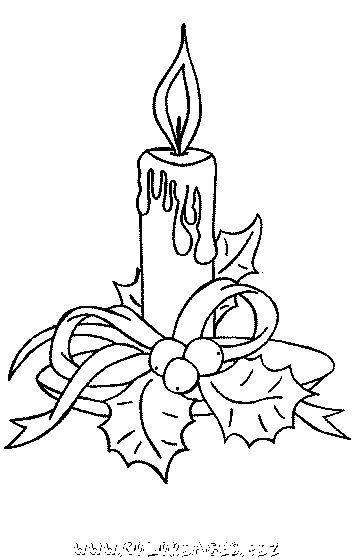coloriage Bougies de Noel gratuit 9170 - Noel
