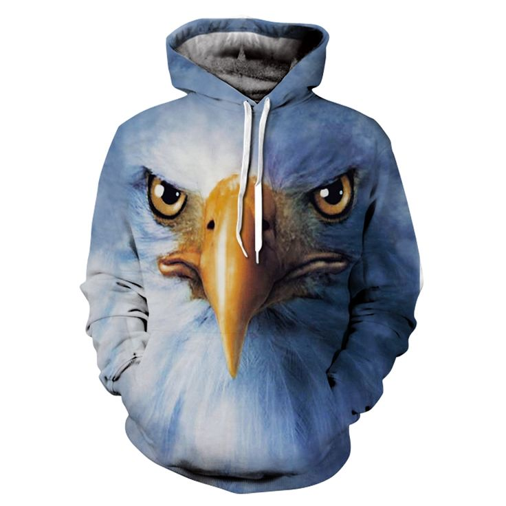 3D Animal Printed Hoodies Men Women Sweatshirts eagle pullover Novelty Tracksuits Fashion Casual Hooded Streetwear New 2017