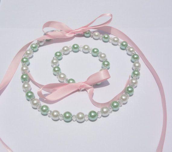 Flower girl Jewelry set. Bridesmaid Jewelry by Stunning Gems Jewelry