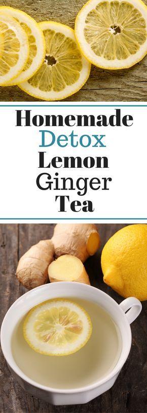 Detoxing Homemade Lemon Ginger Tea